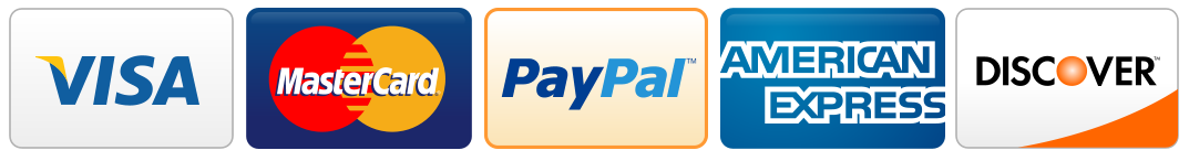 We accept Credit card and Paypal payment
